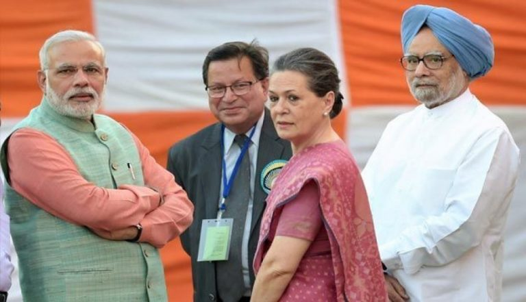 Narendra Modi and Sonia Gandhi