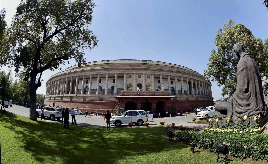 New Delhi: Parliament during the first day of budget session in New Delhi on Tuesday. PTI Photo by Kamal Kishore (PTI2_23_2016_000104A)