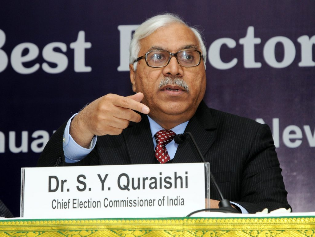 """The Chief Election Commissioner, Dr. S.Y Quraishi addressing a press conference on North Zone Symposium on """"Sharing Best Electoral Practices"""" in New Delhi on January 7, 2011."""