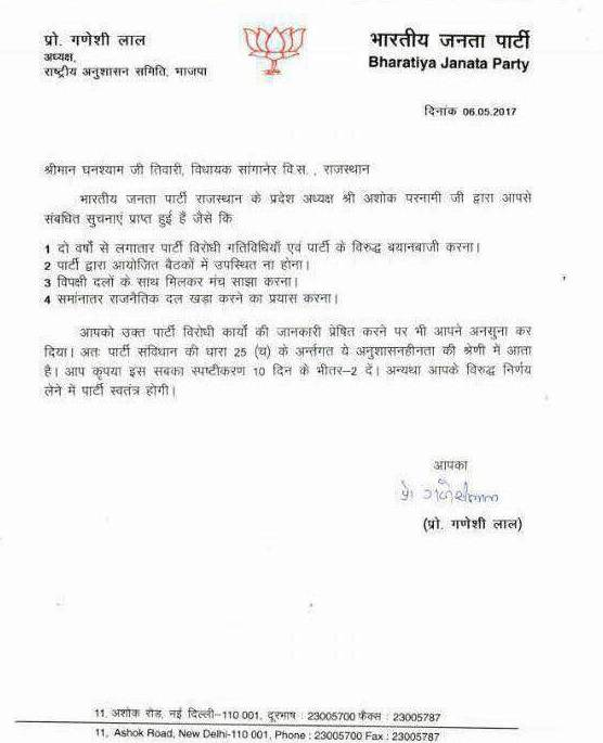 GhanshyamTiwadi notice