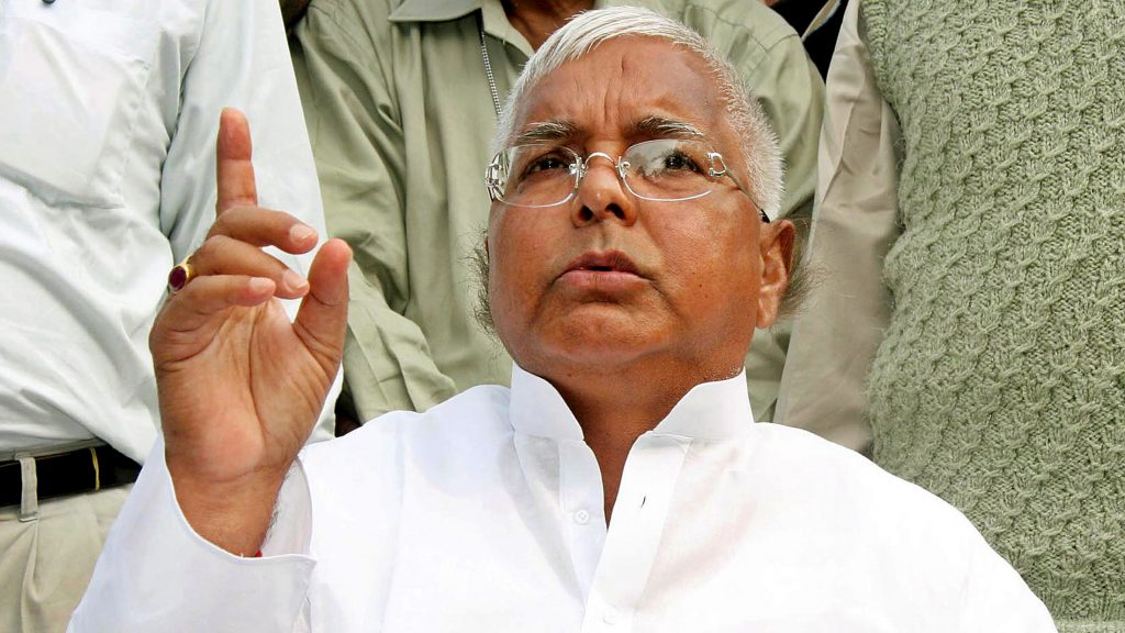 Leader of the Rashtriya Janata Dal (National People's Party or RJD), Lalu Prasad Yadav, speaks during a news conference in the eastern Indian city of Patna November 22, 2005. A key ally of India's ruling coalition was facing defeat in state elections in eastern Bihar on Tuesday as early results trickled in. Analysts said a poll defeat for the RJD could weaken the federal government in New Delhi and make it more vulnerable to pressure, especially on economic policies. REUTERS/Krishna Murari Kishan - RTR1BGZ9