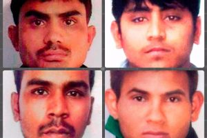 New Delhi: **FILE** Nirbhaya gang rape case convicts, clockwise from top left, Akshay Thakur, Vinay Sharma, Pawan Gupta and Mukesh Singh, whose death sentence was confirmed by the Supreme Court in New Delhi on Friday. 23-year-old medical student Nirbhaya was gangraped and tortured on a moving bus on her way home on Dec 16, 2012. PTI Photo