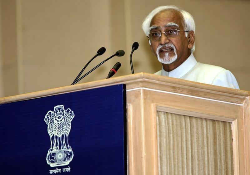 India's Vice President Mohammad Hamid Ansari speaks during the national communal harmony awards ceremony in New Delhi August 12, 2009. REUTERS/B Mathur/Files
