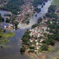 Bihar: Prime Minister Narendra Modi undertook an aerial survey to take stock of the situation arising due to the floods, in Bihar on Saturday. PTI Photo/ PIB(PTI8_26_2017_000064B)