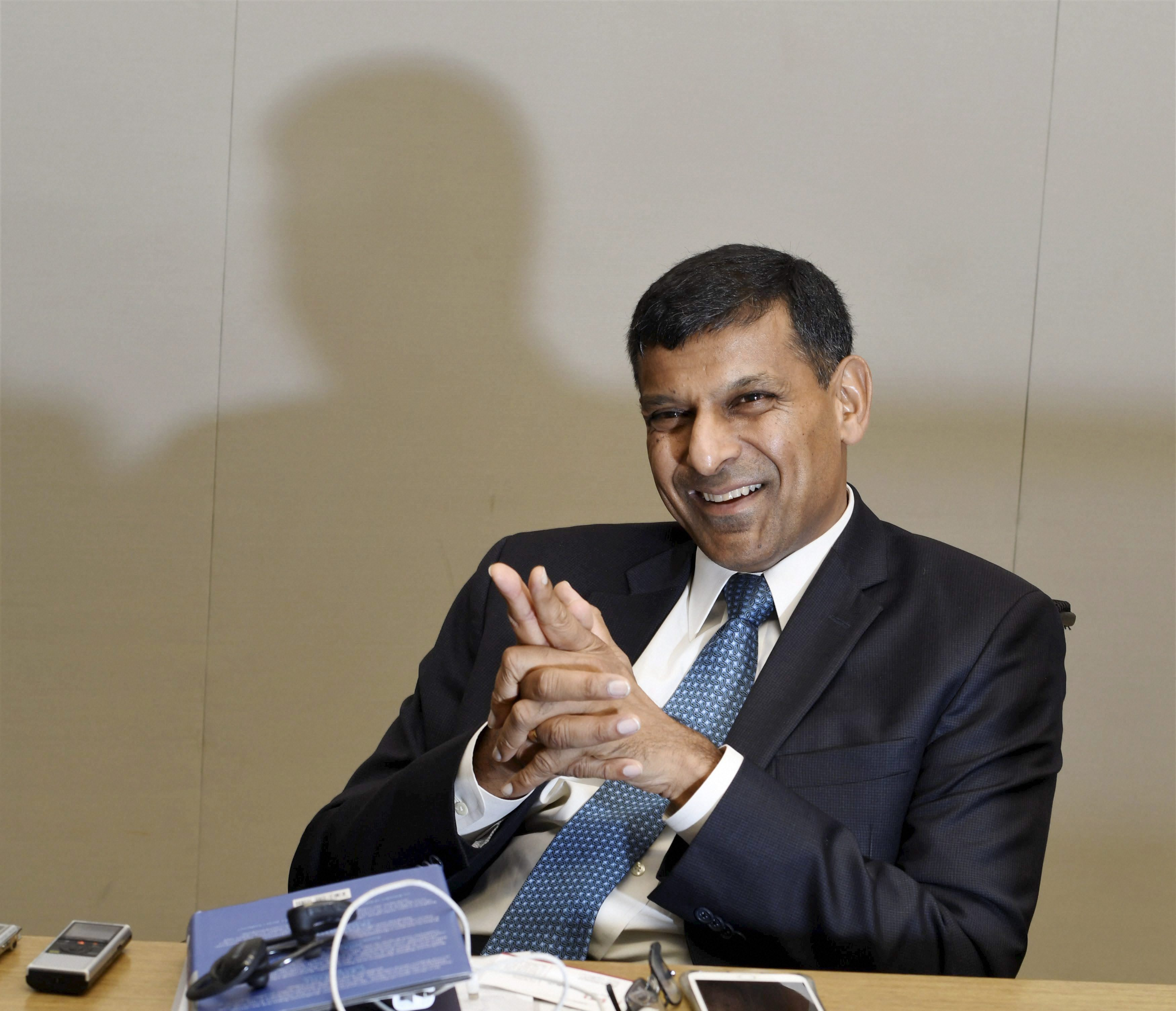 New Delhi : Former RBI Governer Raghuram Rajan speaking to PTI during an interview in New Delhi on Thuirsday. PTI Photo by Shirish Shete(PTI9_7_2017_000117B)