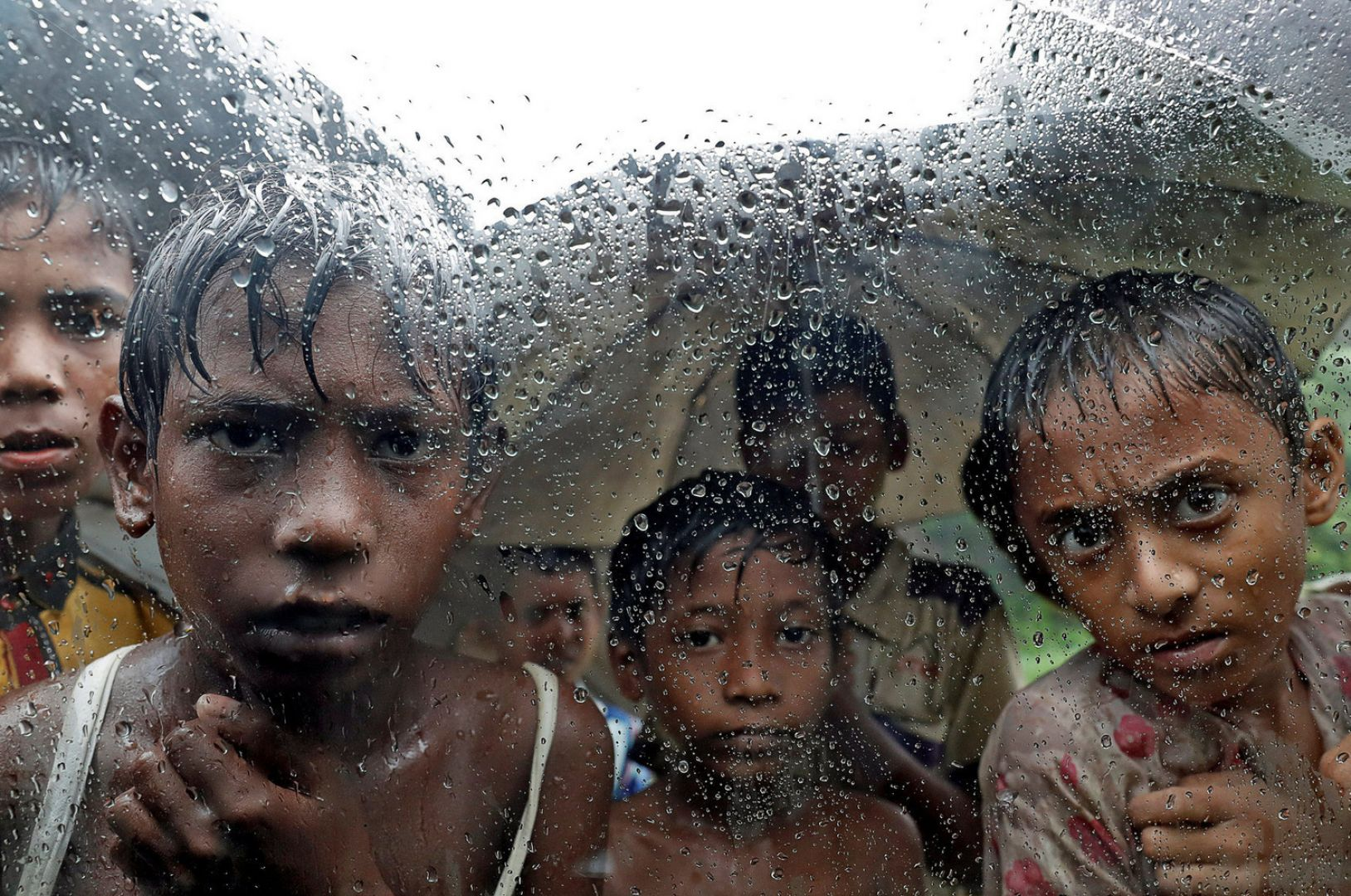 Rohingya refugee children pictured in a camp in cox's Bazar Bangladesh. Reuters/Cathal McNaughton