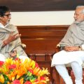 Eminent film actor, Shri Amitabh Bachchan calling on the Prime Minister, Shri Narendra Modi, in New Delhi on December 20, 2014.