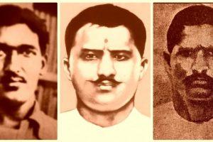 शहीद अशफ़ाक उल्ला खां, रामप्रसाद बिस्मिल और रौशन सिंह. (फोटो साभार: विकिपीडिया)