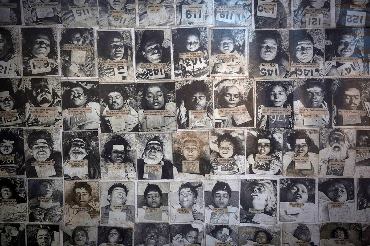 Pictures of residents who died in the 1984 disaster are seen at the forensic department of a hospital in Bhopal Danish Siddiqui/Reuters