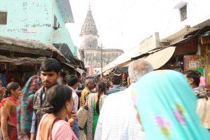 The congested Hanuman Garhi (seen in the backdrop) crossing where atleast 20 kar sevaks were shot dead in October–November 1990. (Photo: Reuters)