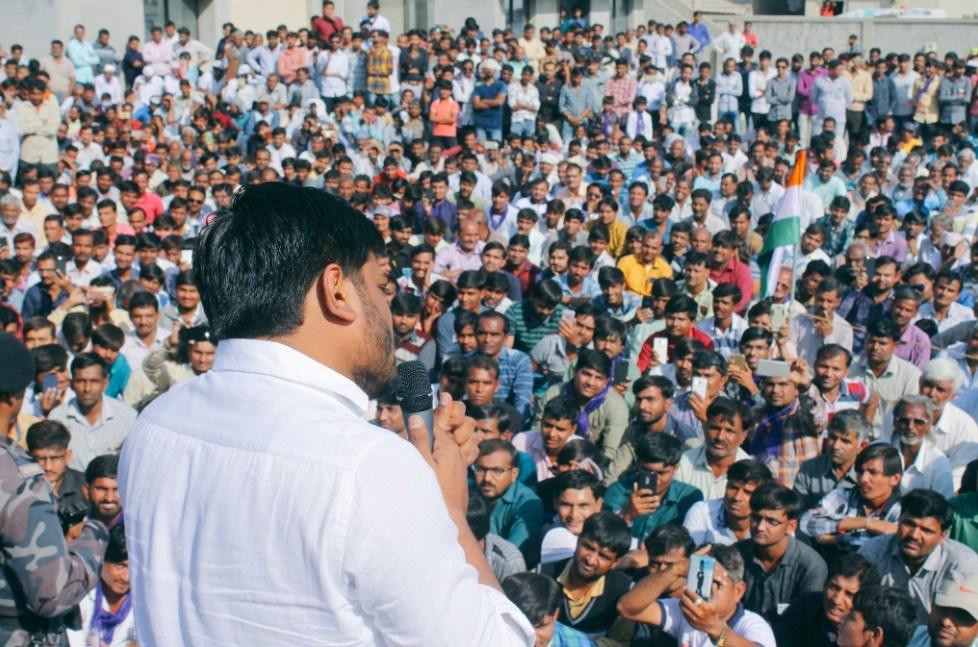 मोरबी में एक चुनावी रैली के दौरान हार्दिक पटेल. (फोटो साभार: ट्विटर/हार्दिक पटेल)