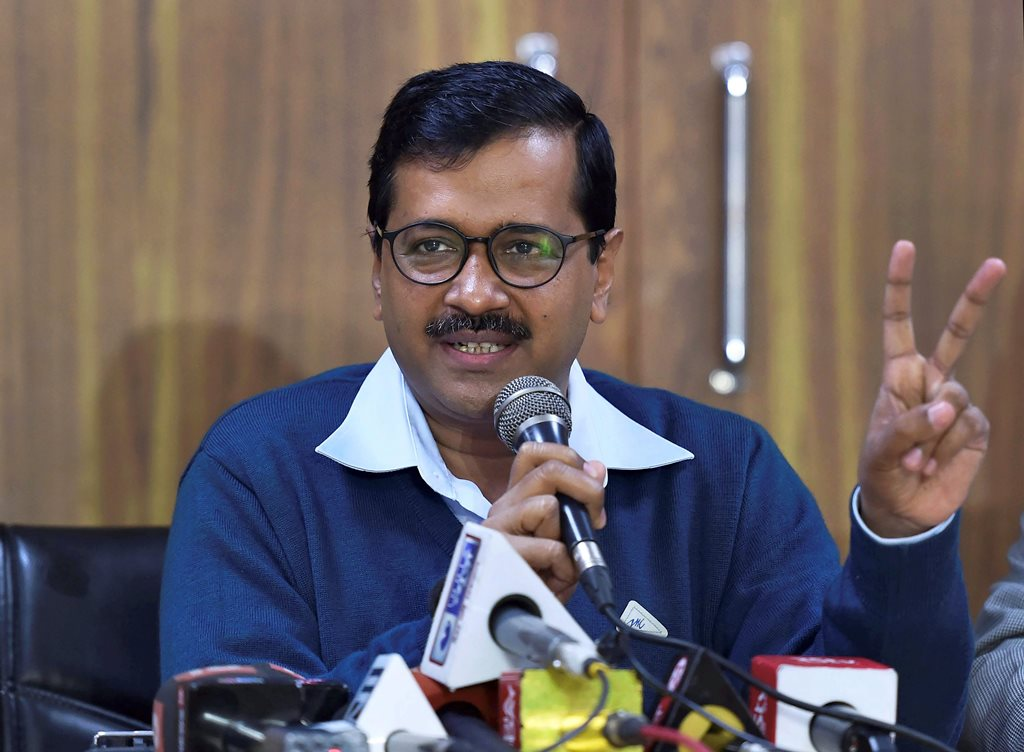 New Delhi: Delhi chief Minister Arvind Kejriwal addresses the media during a press conference at his residence in New Delhi, on Tuesday. PTI Photo by Arun Sharma (PTI1_30_2018_000014B)