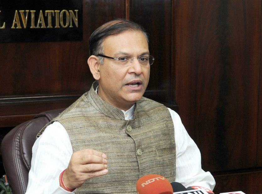The Minister of State for Civil Aviation, Shri Jayant Sinha briefing the media on UDAN, in New Delhi on April 28, 2017.