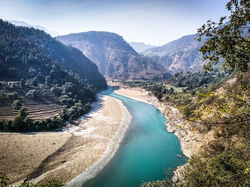 The Mahakali is a transboundary river that forms the border between India (Uttarakhand) and Nepal. Credit: Sumit Mahar