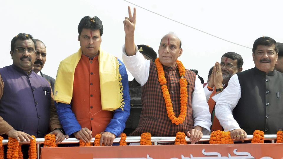 Rajnath Singh Tripura PTI