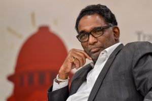 New Delhi: Supreme Court judge Justice Jasti Chelameswar during a book launch 'Appointment of Judges to the Supreme Court of India' edited by Arghya Sengupta and Ritwika Sharma in New Delhi, on Monday. PTI Photo by Ravi Choudhary(PTI4_9_2018_000210B)