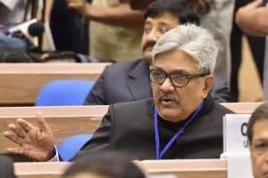 **FILE PHOTO** New Delhi: A file photo of Chief Justice of Uttarakhand High Court K M Joseph during the inauguration of the Joint Conference of Chief Ministers and Chief Justices at Vigyan Bhavan in New Delhi on Sunday, April 24, 2016. PTI Photo by Shahbaz Khan (PTI4_26_2018_000058B)