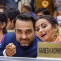 New Delhi: Actors Pankaj Tripathi and Divya Dutta during the 65th National Film Awards function at Vigyan Bhavan in New Delhi on Thursday. PTI Photo by Manvender Vashist (PTI5_3_2018_000232B)