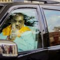 Jammu: Bharatiya Janata Party (BJP) National President Amit Shah leaves from the airport to address a public rally, in Jammu on Saturday, June 23, 2018. (PTI Photo) (PTI6_23_2018_000067B)