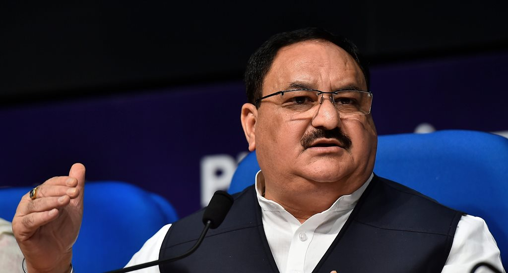 New Delhi: Union Minister for Health & Family Welfare J P Nadda addresses a press conference on the achievements of his ministry in the last 4 years, in New Delhi on Monday, June 11, 2018. (PTI Photo/Kamal Singh) (PTI6_11_2018_000107B)(PTI6_11_2018_000128B)