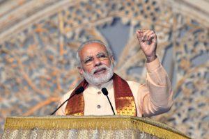 The Prime Minister, Shri Narendra Modi addressing at the inaugural ceremony of the World Culture Festival, in New Delhi on March 11, 2016.
