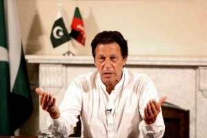 """Islamabad : In this photo provided by the office of Pakistan Tehreek-e-Insaf party, Pakistani politician Imran Khan, chief of Pakistan Tehreek-e-Insaf party, delivers his address in Islamabad, Pakistan, Thursday, July 26, 2018. Khan declared victory Thursday for his party in the country's general elections, promising a """"new"""" Pakistan following a vote that was marred by allegations of fraud and militant violence. AP/PTI(AP7_26_2018_000266B)"""
