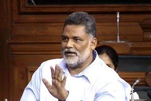 New Delhi: RJD MP Pappu Yadav aka Rajesh Ranjan speaks in the Lok Sabha during the Monsoon session of Parliament, in New Delhi on Thursday, July 19, 2018. (LSTV Grab via PTI) (PTI7_19_2018_000033B)