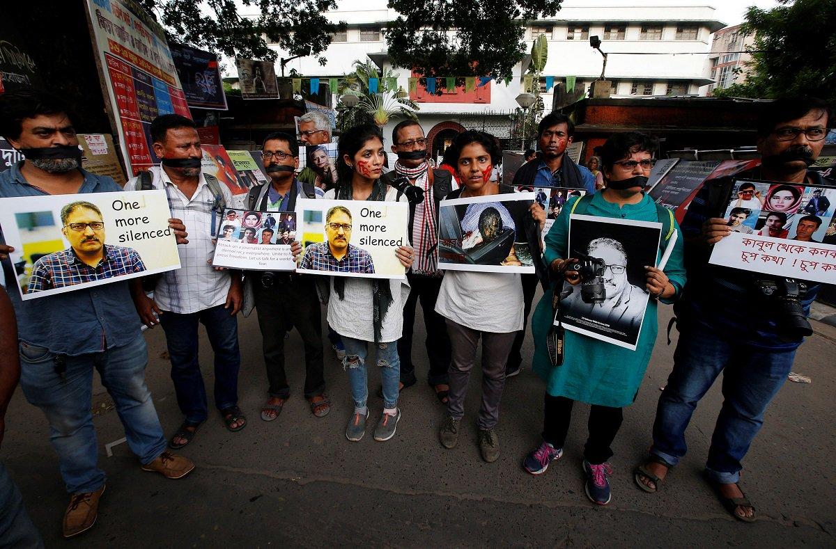 Shujat Murder Journalist Protest Reuters