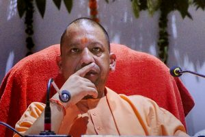 Moradabad: Uttar Pradesh Chief Minister Yogi Adityanath attends a function at Dr BR Ambedkar Police Academy, in Moradabad on Monday, July 9, 2018. (PTI Photo) (PTI7_9_2018_000114B)