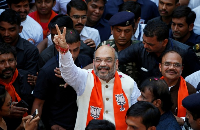 Amit Shah in Security Reuters
