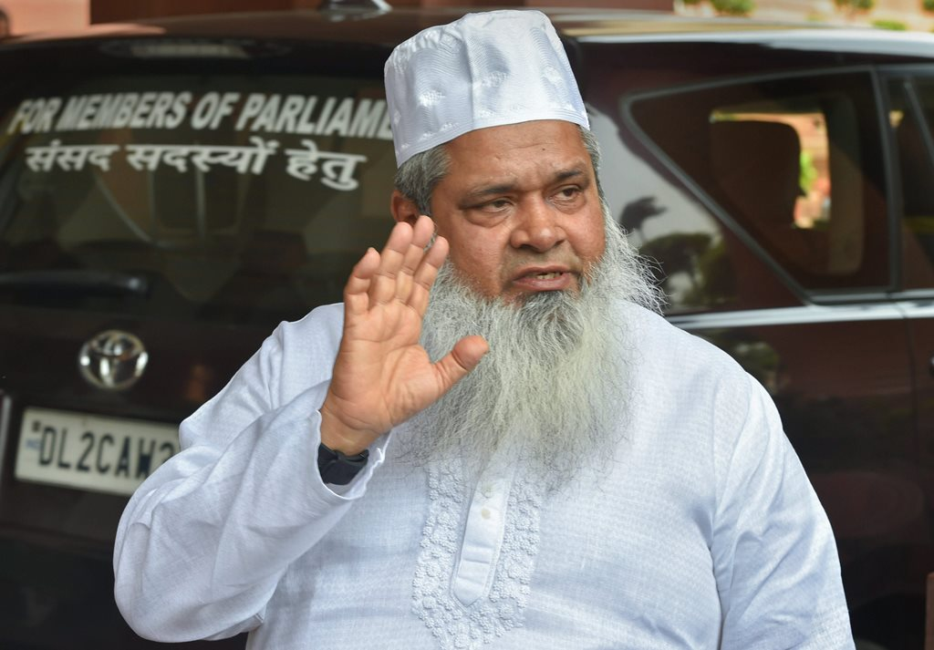 New Delhi: AIUDF (All India United Democratic Front) leader Badruddin Ajmal at Parliament House during its Monsoon session, in New Delhi on Wednesday, August 1, 2018. (PTI Photo/Shahbaz Khan) (PTI8_1_2018_000150B)