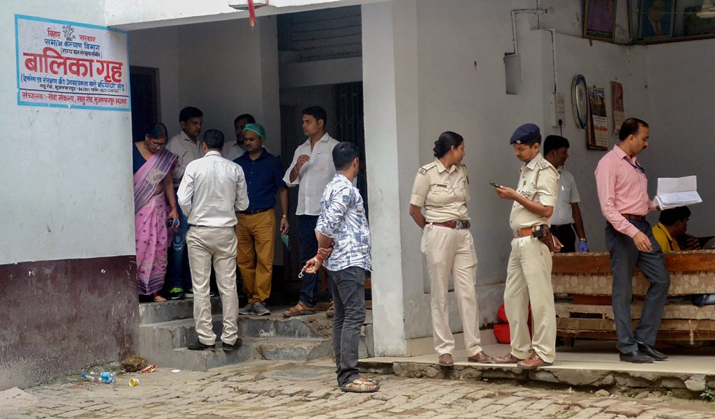 Muzaffarpur: Central Bureau of Investigation (CBI) along with the officers of Central Forensic Science Laboratory (CFSL) investigate the shelter home, where 34 minor girls were allegedly raped, in Muzaffarpur on Saturday, Aug 11, 2018. (PTI Photo) (PTI8_11_2018_000174B)