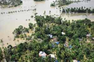 Kochi: A view of the flood affected areas, in Kochi on Sunday, Aug 19, 2018. (PTI Photo) (PTI8_19_2018_000157B)