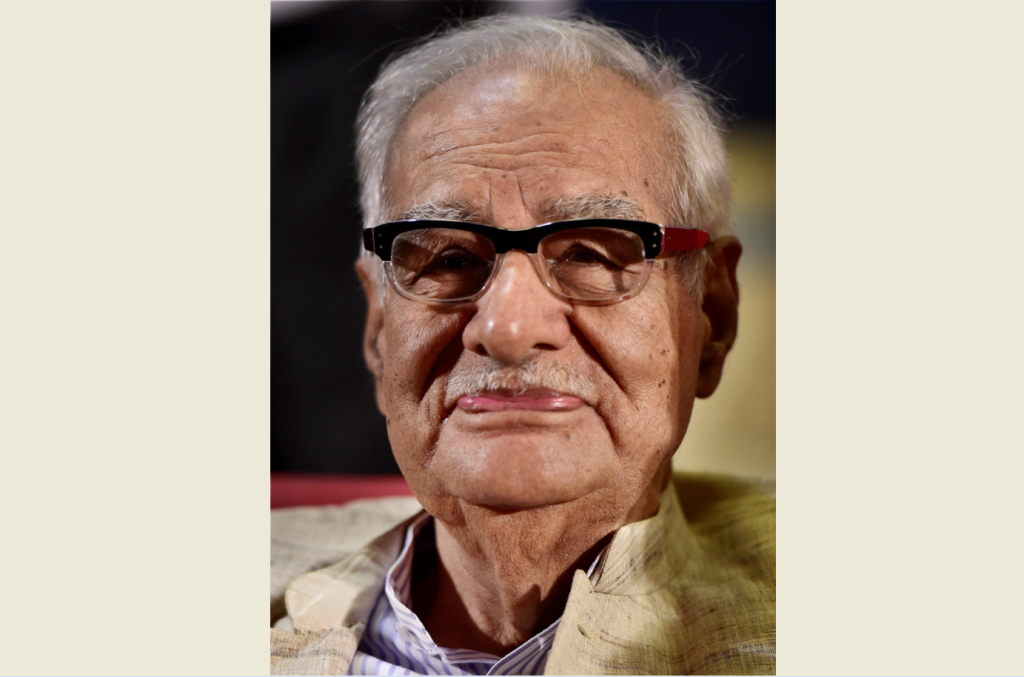 **FILE** New Delhi: File photo of eminent journalist and author Kuldip Nayar, who passed at a private hospital in New Delhi early Thursday, Aug 23, 2018. He was 95. (PTI Photo/Kamal Kishore)(PTI8_23_2018_000014B)