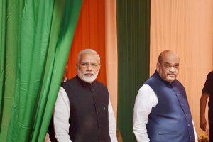 प्रधानमंत्री नरेंद्र मोदी और भाजपा अध्यक्ष अमित शाह. (फोटो: पीटीआई)