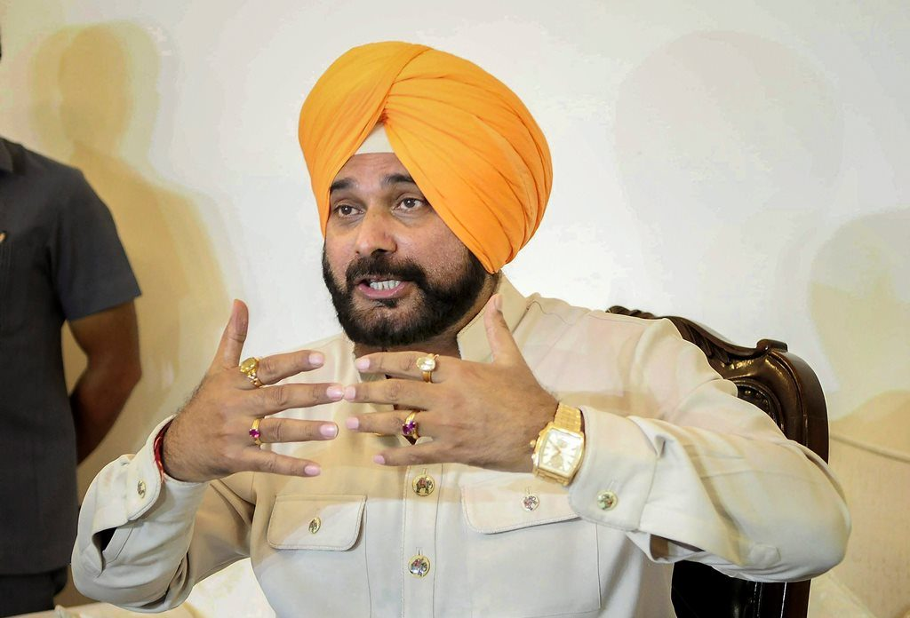 Chandigarh: Punjab Cabinet Minister Navjot Singh Sidhu during a press conference in Chandigarh on Tuesday, Aug 21, 2018. (PTI Photo) (PTI8_21_2018_000094B)