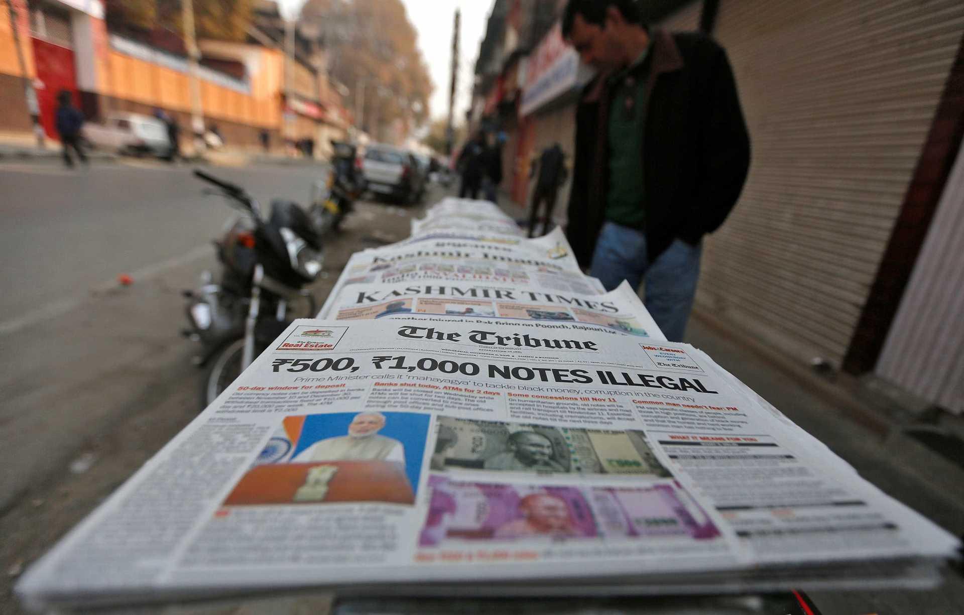 Demonetisation Newspaper Reuters