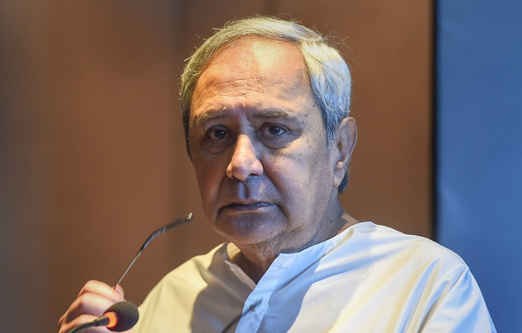 Chennai: Odisha Chief Minister Naveen Patnaik addresses during the 'Odisha Investors' meet, in Chennai, Wednesday, Sept. 26, 2018. (PTI Photo/R Senthil Kumar)(PTI9_26_2018_000060B)