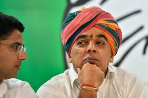 New Delhi: Former Rajasthan BJP MLA Manvendra Singh during a press conference after joining Congress party, in New Delhi, Wednesday, Oct 17, 2018. (PTI Photo/Kamal Singh) (PTI10_17_2018_000068B)