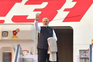 The Prime Minister, Shri Narendra Modi departs for Tokyo for the Annual Summit with Japan, in New Delhi on November 10, 2016.