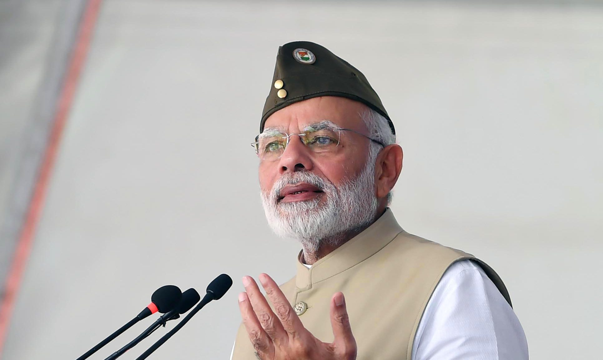 The Prime Minister, Shri Narendra Modi addressing the gathering at a function to commemorate the 75th anniversary formation of the Azad Hind Government, at Red Fort, Delhi on October 21, 2018.