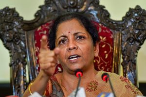 Chennai: Defence Minister Nirmala Sitharaman addresses a press conference at Officers Training Academy (OTA), in Chennai, Saturday, Sept 29, 2018. (PTI Photo) (PTI9_29_2018_000115B)