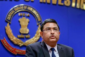 **FILE** New Delhi: In this file photo dated July 07, 2017, CBI Additional Director Rakesh Asthana addresses the media after CBI raid, in New Delhi. Central Bureau of Investigation special director Rakesh Asthana on Tuesday moved the Delhi high court against the lodging of an FIR against him in a bribery case. (PTI Photo)(PTI10_23_2018_000054B)