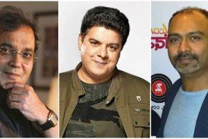 फिल्म निर्देशक सुभाष घई, साजिद खान और उमेश घाडगे (बाएं से दाएं). (फोटो साभार: फेसबुक)
