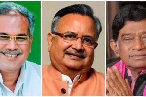 छत्तीसगढ़ प्रदेश कांग्रेस अध्यक्ष भूपेश बघेल, मुख्यमंत्री रमन सिंह और अजीत जोगी. (फोटो साभार: फेसबुक)