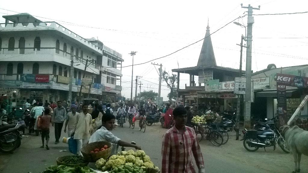 सीतामढ़ी का गौशाला चौक जहां उपद्रवियों ने उत्पात मचाया था और ज़ैनुल अंसारी को मारा डाला था. (फोटो: उमेश कुमार राय/द वायर)