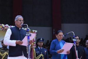 भूपेश बघेल ने सोमवार को छत्तीसगढ़ के मुख्यमंत्री के रूप में शपथ ली. (फोटो साभार: ट्विटर/CMO Chhattisgarh)