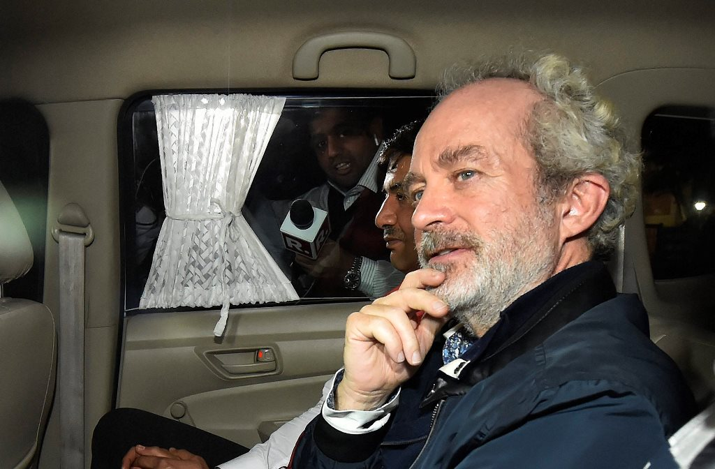 New Delhi: Agusta Westland scam accused middleman Christian Michel at CBI headquarters in New Delhi, on early Wednesday, Dec. 5, 2018. (PTI Photo/Ravi Choudhary)(PTI12_5_2018_000001B)