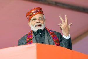 The Prime Minister, Shri Narendra Modi addressing at the function to mark one-year of Himachal Pradesh Government, in Dharamshala, Himachal Pradesh on December 27, 2018.