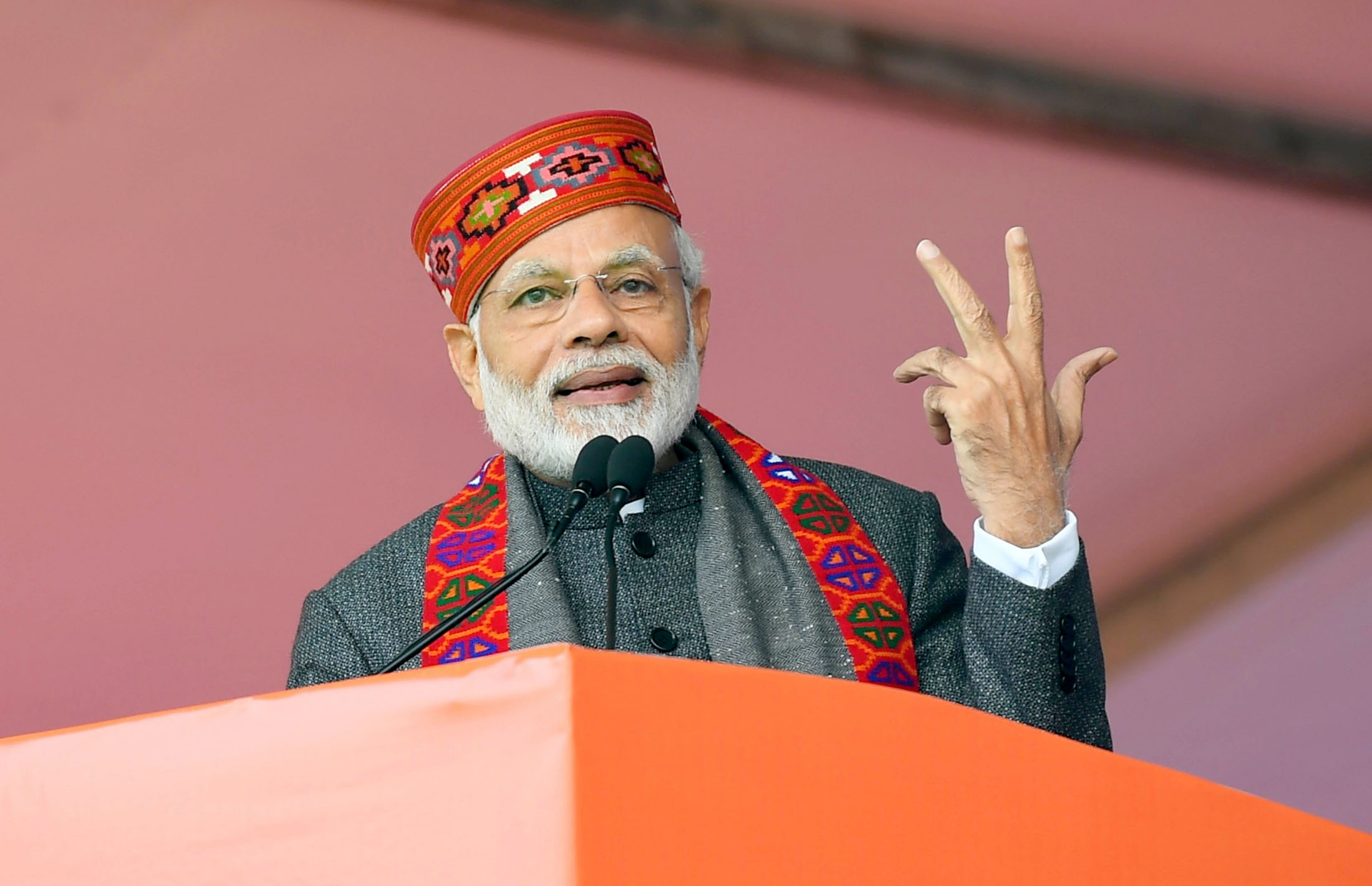 The Prime Minister, Shri Narendra Modi addressing at the function to mark one-year of Himachal Pradesh Government, in Dharamshala, Himachal Pradesh on December 27, 2018.